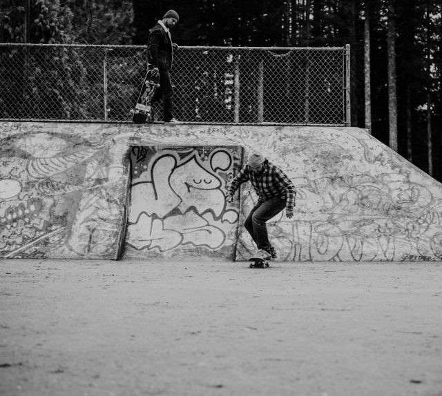 """""""While it's seen as more of an individual practice, skateboarding is also very much about the collective experience. """"No matter how much life changes for all of us, that bond built through skating remains,"""" says Cherrier. """"Skating is so difficult. I feel like doing it through youth and adolescence builds a serious level of perseverance and work ethic that you will carry with you throughout the rest of your life. Falling down, getting back up, making yourself try again and again, overcoming fears, and pushing forward — that's what skating is about, and that's what life is about."""" """"  Have you had a chance to read """"Falling On Concrete Builds Character"""" since our magazine launch?  Words by: @alisonjsbell  Photos by: @lime_soda_photography  #strathconacollective #createplayexplore #discoverquadraisland #explorequadraisland #strathconaregion #quadraisland #explorebc #beautifulbc #vanislewild #explorevanisle #explorevancouverisland"""